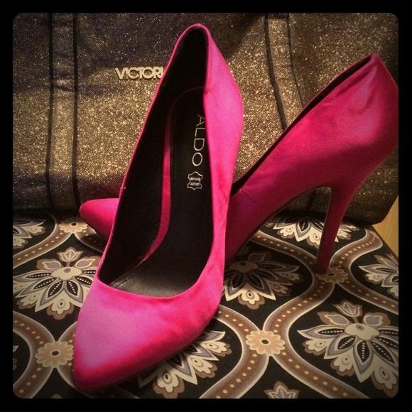 257bcc9af3be Aldo Shoes - Hot pink Aldo satin pumps 39 (8-81 2)