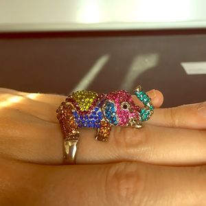 Jewelry - Rainbow elephant ring