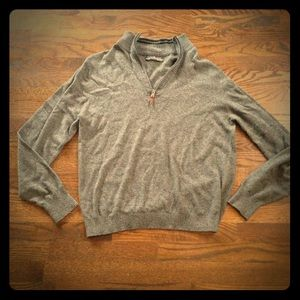 Five Four Other - Men's FIVE FOUR brand Half-Zip Gray Sweater, Large