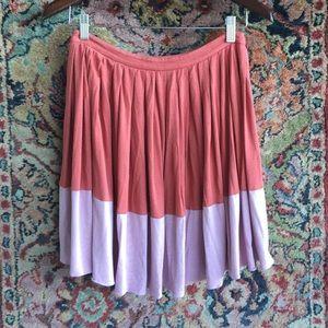 Tibi Dresses & Skirts - Tibi Pleated Skirt Colorblock!