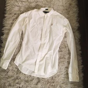 Ralph Lauren White Polo blouse 