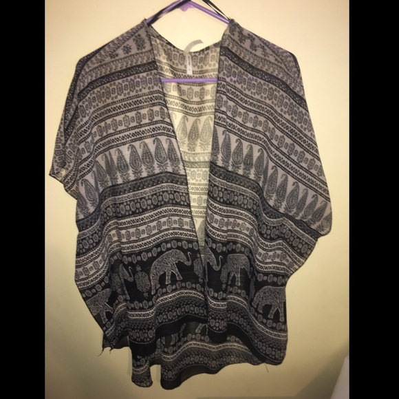 64% off Sweaters - Cute tribal/design flowy kimono / cardigan from ...