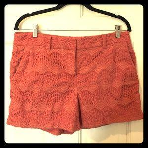 Burnt orange lace shorts