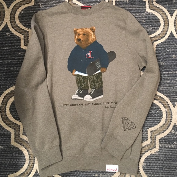 f408ae5b635 Diamond Supply Co. Other - Diamond Supply Co Grizzly Griptape Bear Crew Neck