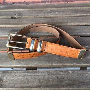 Vintage Accessories - Vintage Calfskin Leather Hing Belt