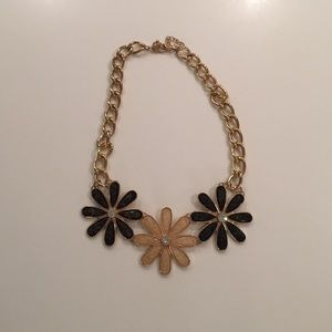 Macy's Gold Flower Statement Necklace