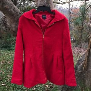 Stunning red peacoat!