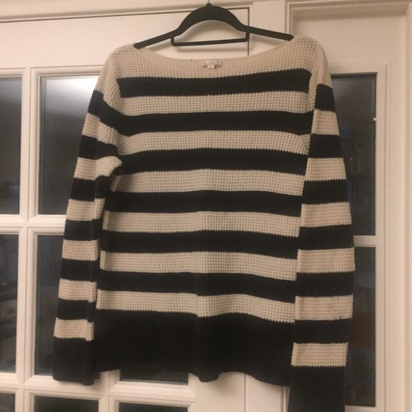 71% off GAP Sweaters - GAP Designed & Crafted navy striped sweater ...