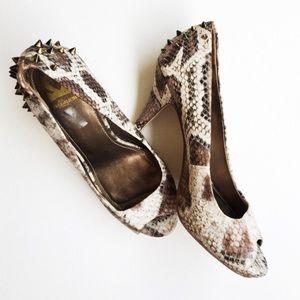 Fergie Shoes - FINAL SALE SNAKE SKIN PATTERN HEELS