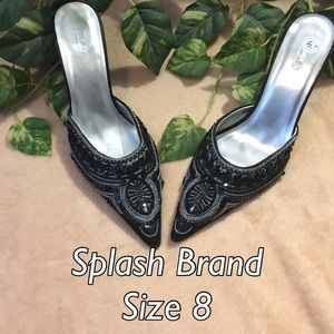 ✨ Splash Brand Embroidered Heels