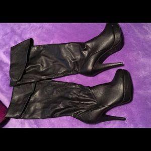 "Knee high 3"" boots"