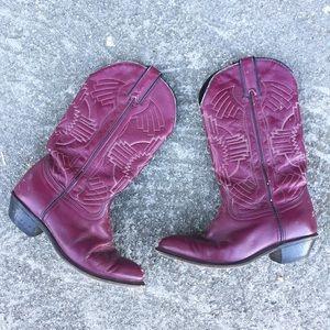 Durango Shoes - Vintage Durango eggplant purple cowboy boots