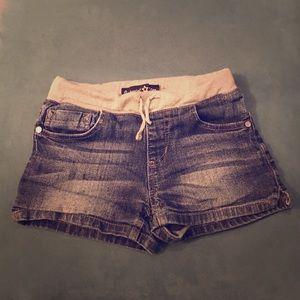 Imperial Star Other - Girls cotton stretch tie waist jeans