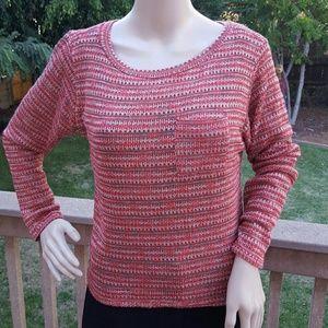 Closet Sweaters - Cute rust colored long sleeve sheer top  NWT