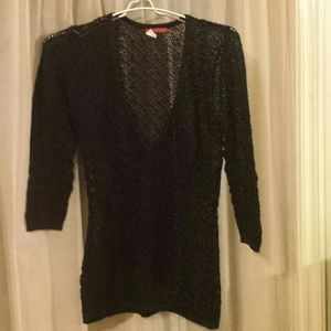 Pretty Black See Through Top. Size Med.