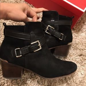 Coach suede nubuck scrappy booties