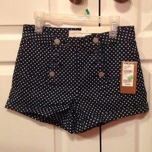 High-Rise Polka Dot Denim Sailor Shorts, Tilly's