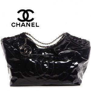 CHANEL Vinyl Coco Cabas XL Tote Bag