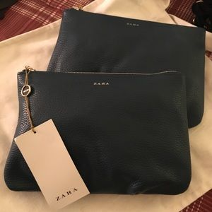 Zara Handbags - 🆕Zara Woman Leather Clutch