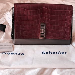 Proenza Schouler Handbags - NWT Proenza Schouler PS Elliot 🐊 Croc Clutch