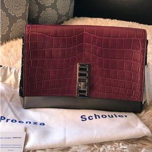 Proenza Schouler Handbags - NWT Crocodile🐊Proenza Schouler PS Elliot Clutch