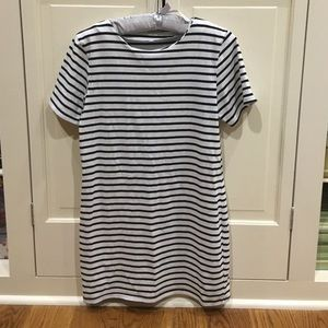 Black and white striped tshirt dress