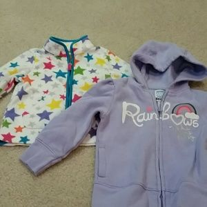 Carter's Other - 2 little girl zip up jacket for 18-24 month old