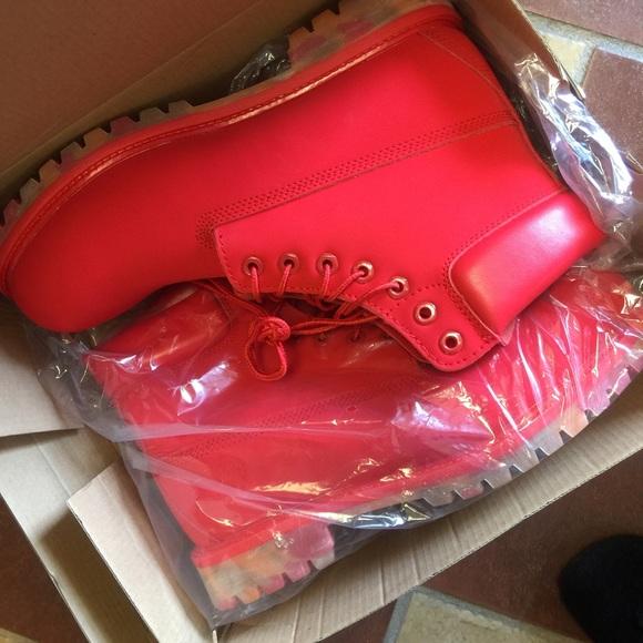 cc3e5149299 Red men timberlands boots