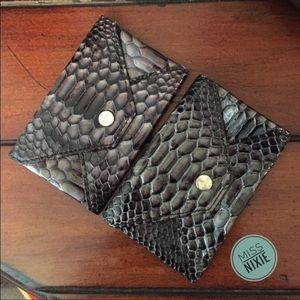 Abas Accessories - Abas Snake-print leather card case