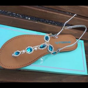 bf591df8bd64f5 Marbella Shoes - Marbella Downtown Turquoise Sandals Size 7
