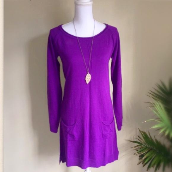 9b64eea6ed Dresses   Skirts - Long Sleeve Knit Pocket Purple Sweater Dress Small