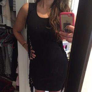 Dresses & Skirts - Little black fringe dress.  XS ✨worn once✨
