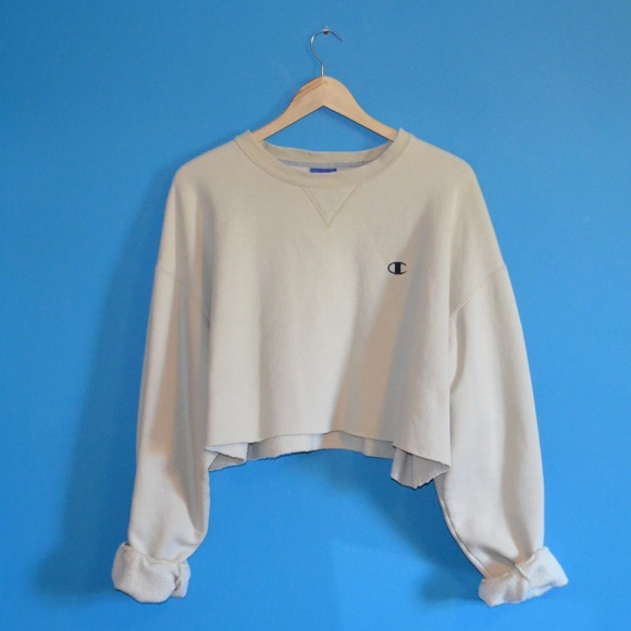 champion beige cropped champion pullover sweatshirt from. Black Bedroom Furniture Sets. Home Design Ideas