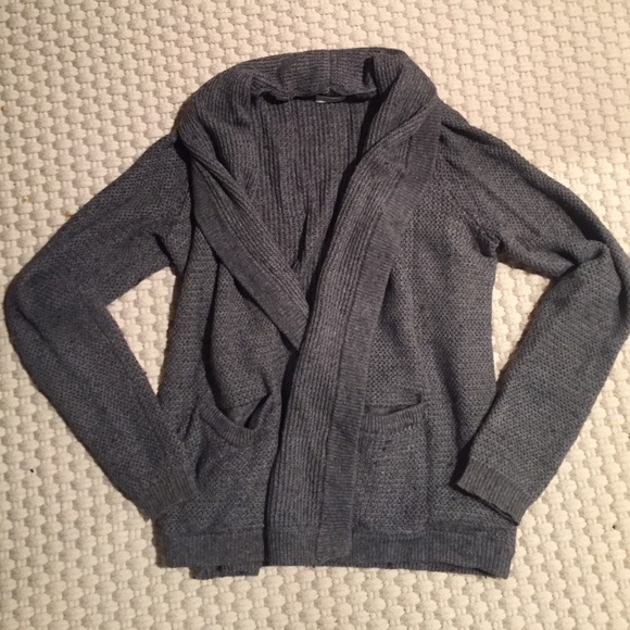 50% off Madewell Sweaters - Madewell Thick Grey Cardigan from ...