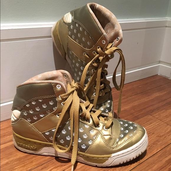 le adidas, edizione limitata di missy elliot oro hightops poshmark