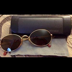 Cartier Accessories - 😎 Cartier gold rim sun glasses