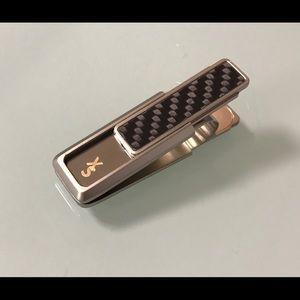 xccessori-usa Other - 🔥Sterling Silver Carbon-Fiber Money Clip🔥
