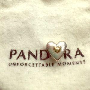 "Pandora Jewelry - PANDORA ""Happy Anniversary"" Charm Silver and Gold"