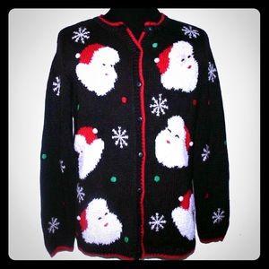 Ugly Christmas Santa Sweater #133