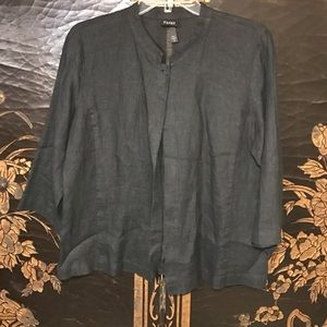 Eileen Fisher Jackets & Blazers - Eileen Fisher black 1 button jacket linen medium