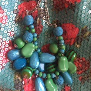 Jewelry - ❤️Green and blue bangles necklace.