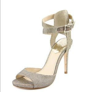 Vince Camuto Faunora Ankle Strap Heels Gold/Silver