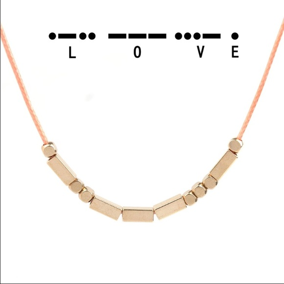 Pineapple palmbeach sold morse code love necklace from for Code postal charmes