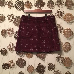Free People Skirts - 🌿FIRM🌿 Free People Velvet Button Skirt 8