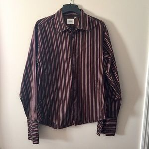 Guess by Marciano Other - Guess chocolate brown striped shirt. Size XXL