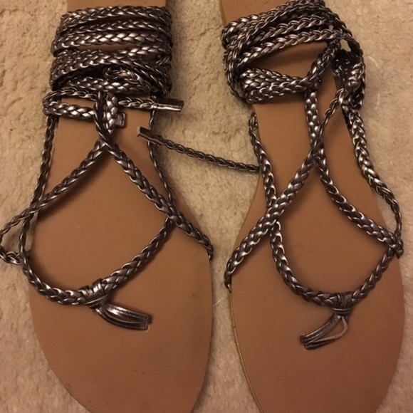 9d58c87e995 Colin Stuart Braided Ankle Wrap Sandals by VS. M 58f527324225be451c019fab