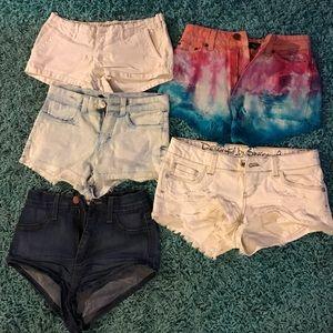 Assorted Denim Shorts Lot (4 pairs)
