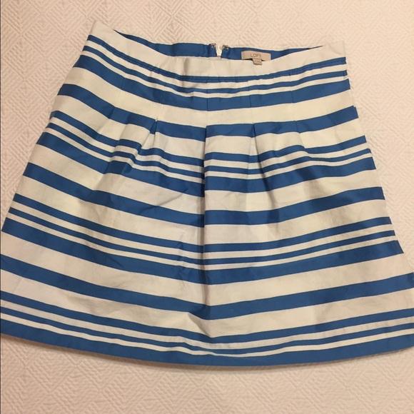 73 loft dresses skirts blue and white stripe a