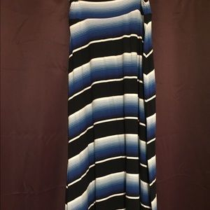 Medium Medina Maxi Skirt Blue/Navy/White