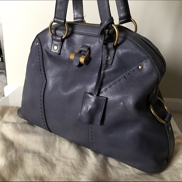 9f377a3491e YSL Yves Saint Laurent gray muse dome satchel bag.  M_582a8bb198182906dc0165ce. Other Bags ...